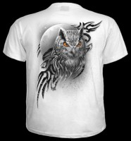 Wings Of Wisdom - Owl T-Shirt White