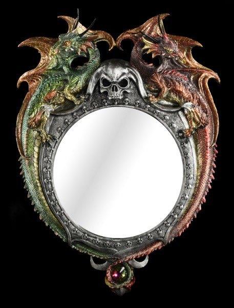 Großer Drachen Wandspiegel - Mirror of Unity