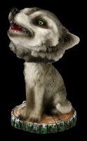 Bobble Head Figurine - Howling Wolf