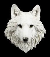 Wandrelief Wolf Kopf - Snow Spirit