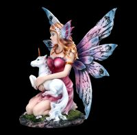 Fairy Figurine - Unicora wich Baby Unicorn