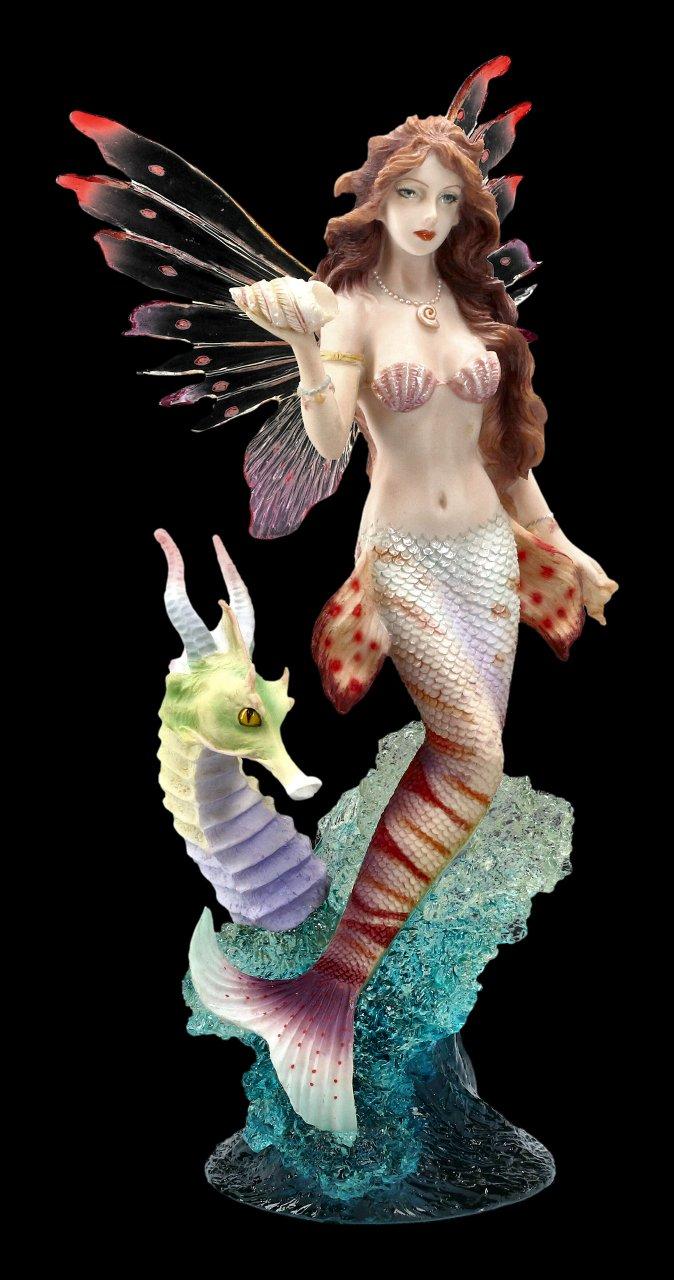Meerjungfrau Figur - Rotfeuerfisch mit Seepferd