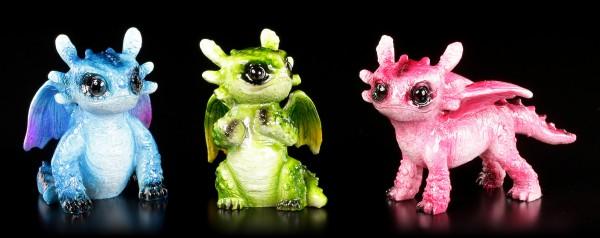 Small Dragon Figurines colored