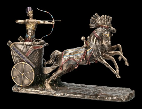 Egyptian Ramses Figurine in Chariot