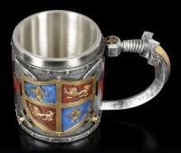 Mittelalter Krug - Wappen - bunt