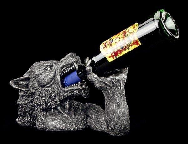 Flaschenhalter - Werwolf trinkt