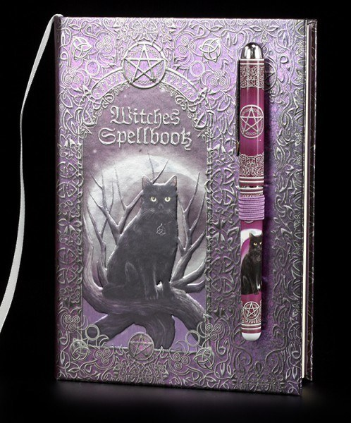 Hardback Journal with Pen - Witches Spellbook