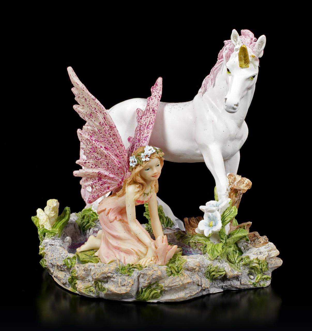 Fairy Figurine - Leana with Unicorn