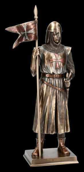 Knight Figurine - German Crusader with Banner