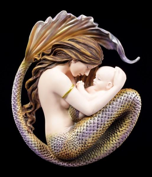 Wall Plaque - Mermaid and Baby - Motherhood