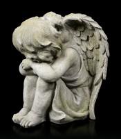 Engel Gartenfigur - Kind schlafend rechts