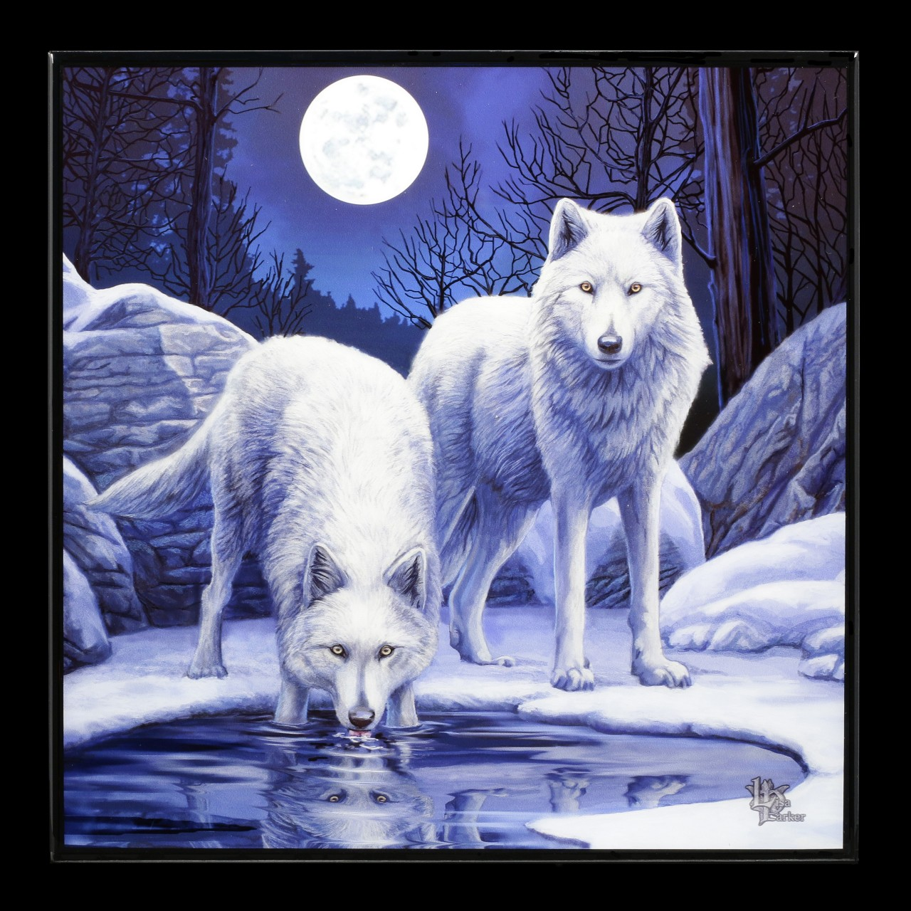 Small Crystal Clear Picture with Wolves - Warriors of Winter