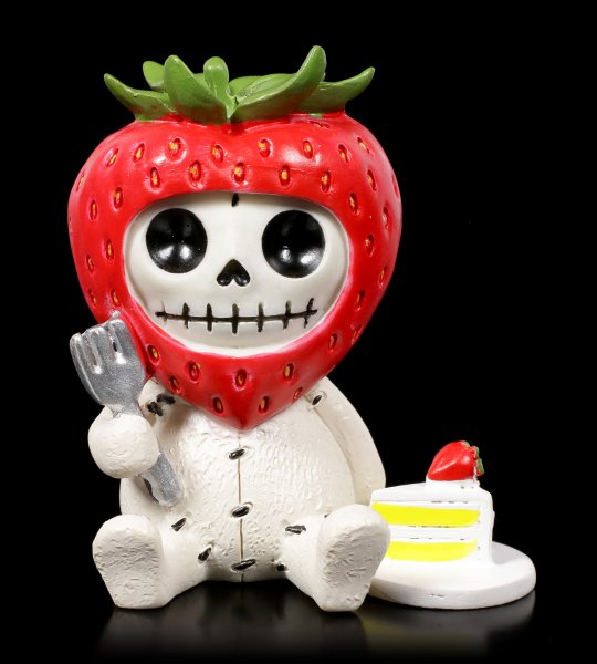Furry Bones Figurine - Strawberry