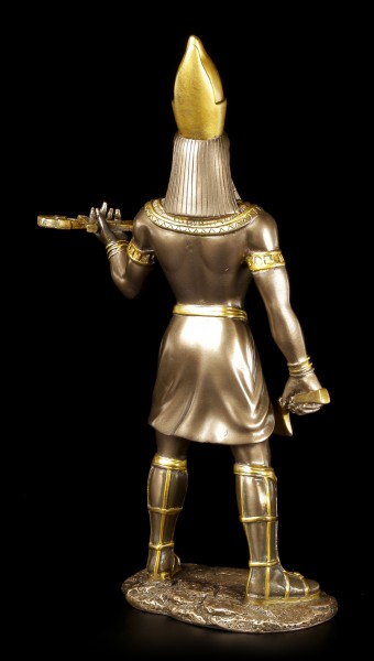 Ägyptische Krieger Figur - Horus - Bronziert