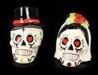 Wedding Skulls - Salt and Pepper