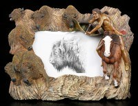 Indian Picture Frame with Bisons
