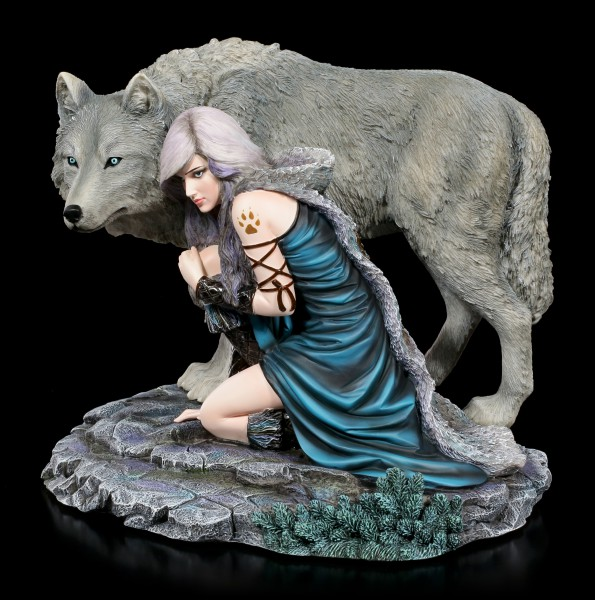 Wolf Figurine - Protector by Anne Stokes - limited