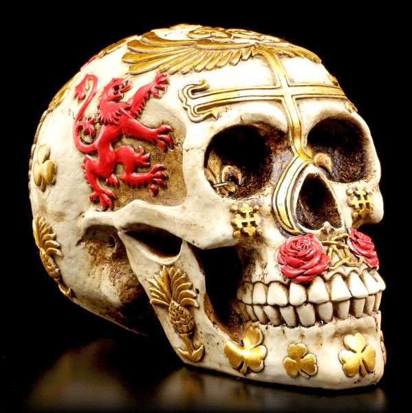 Vorschau: Totenkopf mit Vereinigten Königreich Wahrzeichen