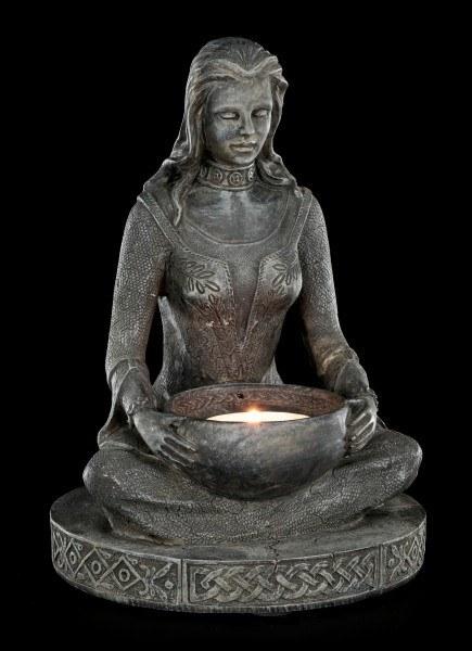 Teelichthalter - Hexe bei Beschwörung