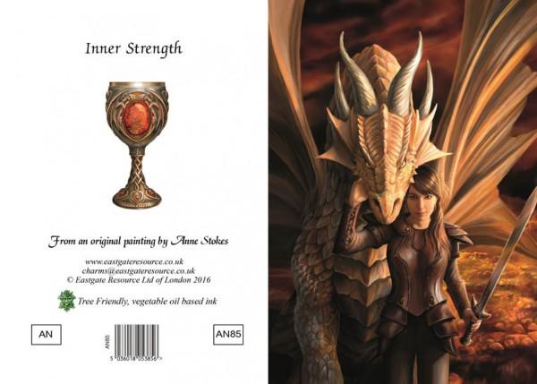 Drachen Grußkarte - Inner Strength