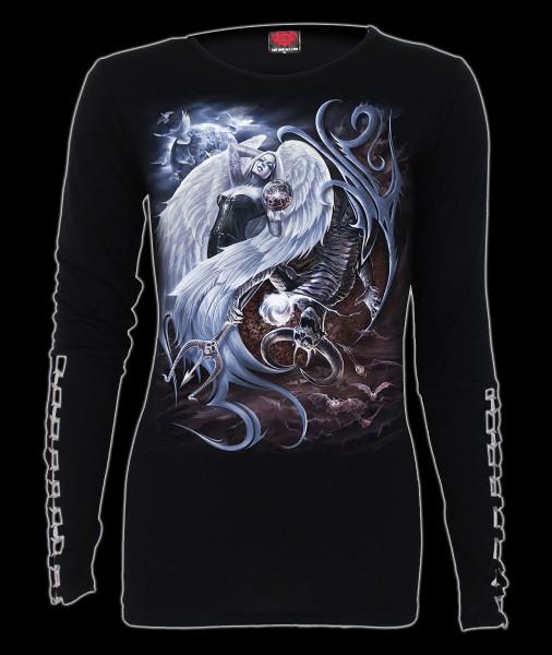 Langarmshirt Damen Gothic- Yin Yang Teufel & Engel