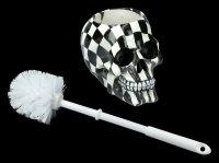 Harlequin Skull Toilet Brush Holder