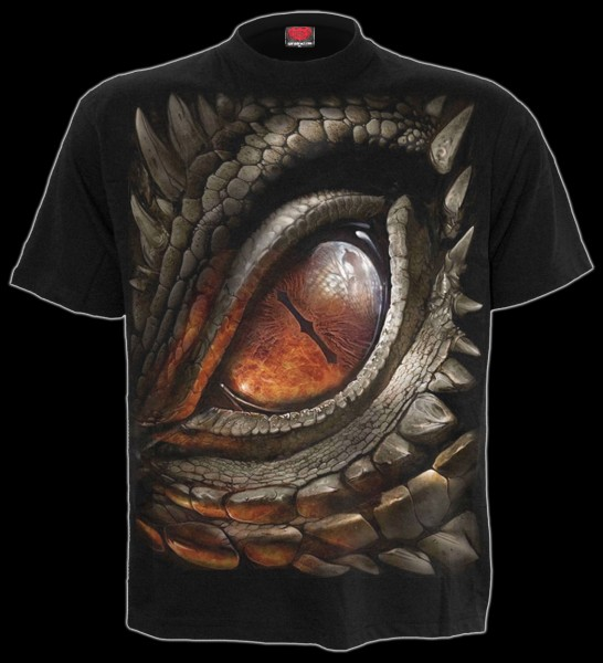 Spiral Drachen T-Shirt - Dragon Eye