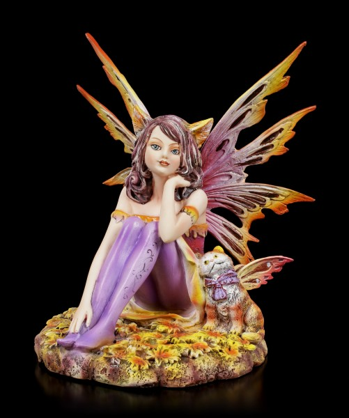 Fairy Figurine - Catfairy Tabby with little Cat