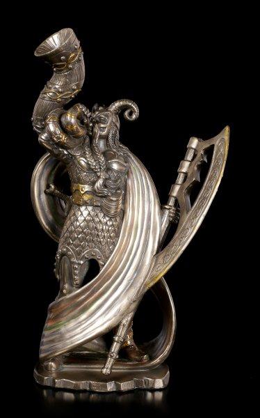 Heimdall Figur bronziert