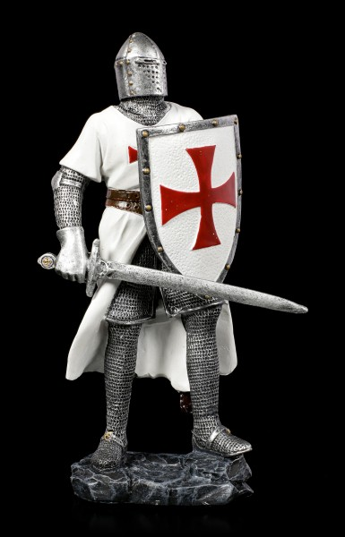 German Crusader Figurine with Shield and Sword