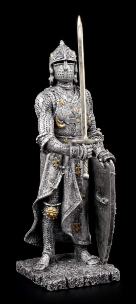 Ritter Figur mit Schwert zum Himmel gerichtet