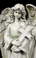 Angel Garden Figurine with Cross in his Arm