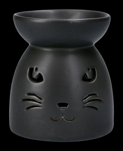 Duftlampe schwarz - Katzengesicht