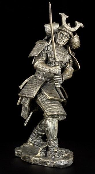 Samurai Figur mit gezogenem Schwert