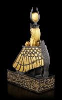 Isis Figur mit Horus Kind - goldfarben