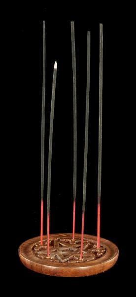 Räucherstäbchenhalter mit Pentagramm