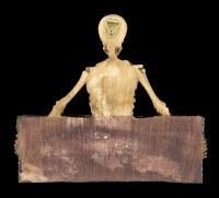 Türschild Skelett - Keep Out