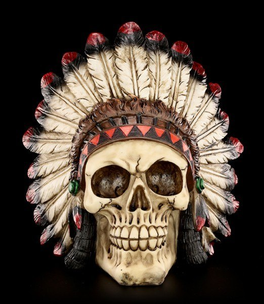 Totenkopf - Indianer Häuptling