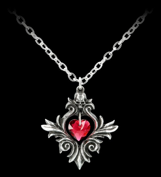 Alchemy Gothic Heart Necklace - Bouquet of Love