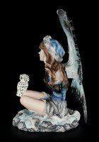 Elfen Figur - Arien mit Schneeeule