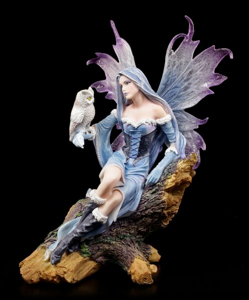 Preview: Fairy Figurine with Owl - Shakira on Tree Trunk