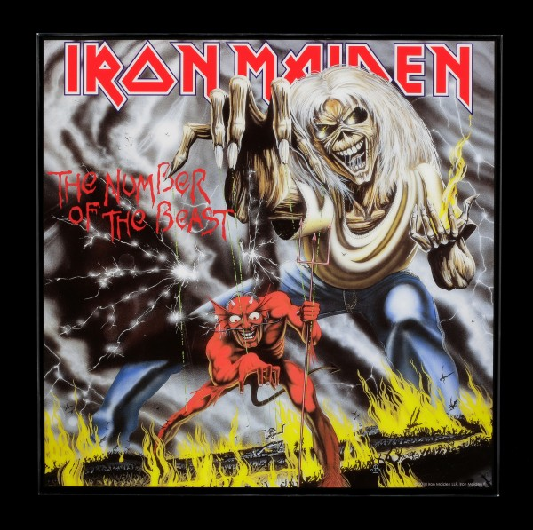 Iron Maiden Hochglanz Bild - The Number of the Beast