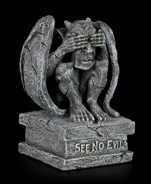 Gargoyle Figur - See No Evil