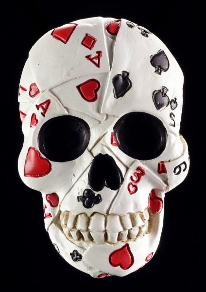 Kühlschrankmagnet - Totenkopf Flaschenöffner Poker Skull