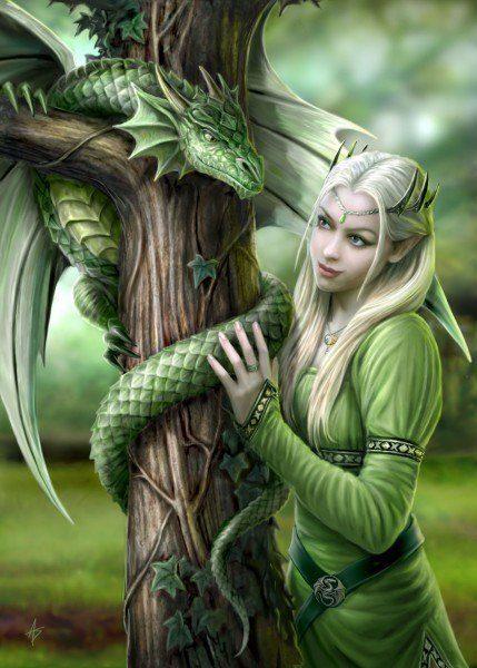 Dragon Greeting Card - Kindred Spirits