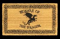 Fantasy Doormat - Beware of the Dragon