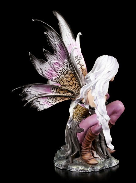 Fairy Figurine - Violet with small Dragon