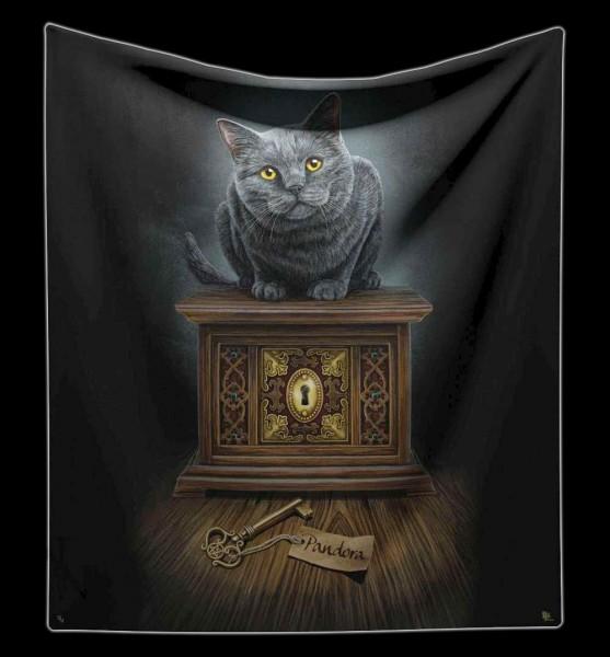 Kuscheldecke Katze - Pandora's Box von Lisa Parker
