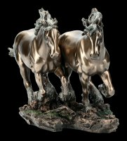 Horse Figurine - Two Galloping Horses