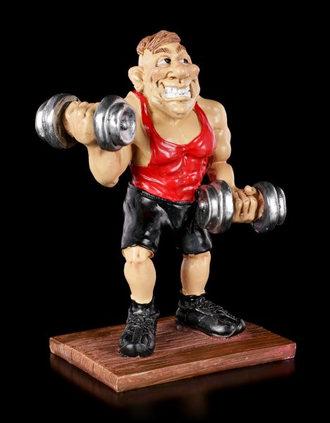 Funny Sports Figur - Bodybuilder stemmt Hanteln